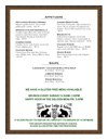 Black Bear Lodge Menu